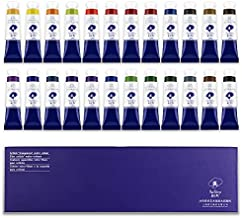 Paul Rubens Watercolor Paint, 24 Colors x 8ml Artist Grade Watercolor Tubes, Extra Fine Highly Pigmented Perfect for Professional Artist and Beginners