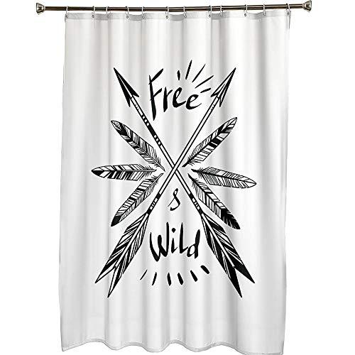 Duschvorhang 180x180 Shower Curtains Wasserdicht Antischimmel Waschbar Badewannenvorhang Textil Polyester Badezimmer Vorhang mit 12 Haken für Badezimmer Pfeil, Duschvorhang