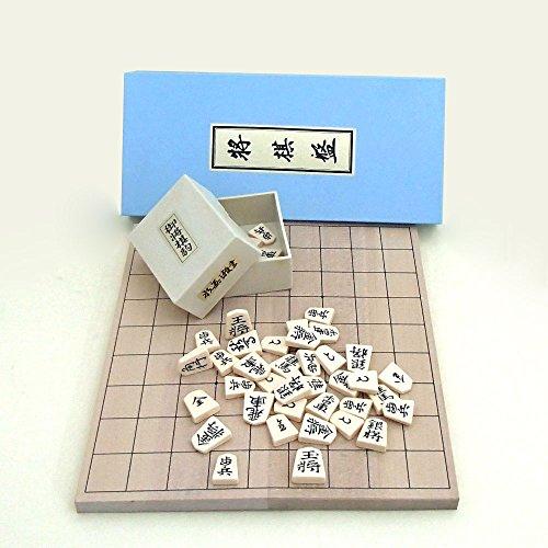 将棋セット 新桂6号折将棋盤とP将棋駒上駒水無瀬セット