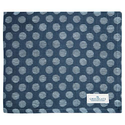 GreenGate - Tischdecke - Savannah - Baumwolle - Blue Jacquard - 145x250 cm