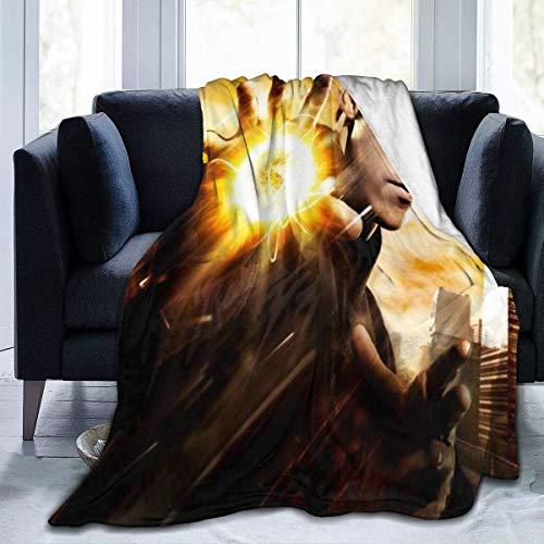 Lsjuee Sci Fi TV Heroes Manta de Franela de Microfibra Mantas de Tiro Super Suave Fuzzy Luxury Adecuado para Cama Sofá Viaje Four Seasons Manta 50 x40