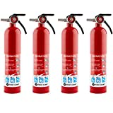First Alert HOME1 Rechargeable Home Fire Extinguisher 4-Pack, Red | UL Rated 1-A:10-B:C | ...