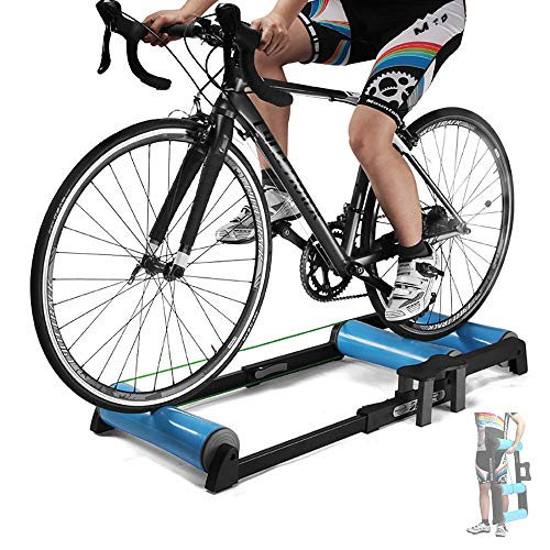HZGrille Rodillo Bicicleta Carretera,Rodillos para Bicicletas para Bicicletas de MontañA con Un DiáMetro de Rueda de 24-29 Pulgadas O Bicicletas de Carretera 700C, DiseñO Plegable