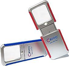 LED Lighted Sliding Pocket Magnifying Glass,3X HandHeld Lighted Magnify Glasses for Reading Book Phone Menu Pill Bottles M...