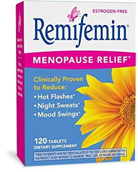 Enzymatic Therapy Remifemin Estrogen-Free Menopause Relief 120 Tablets