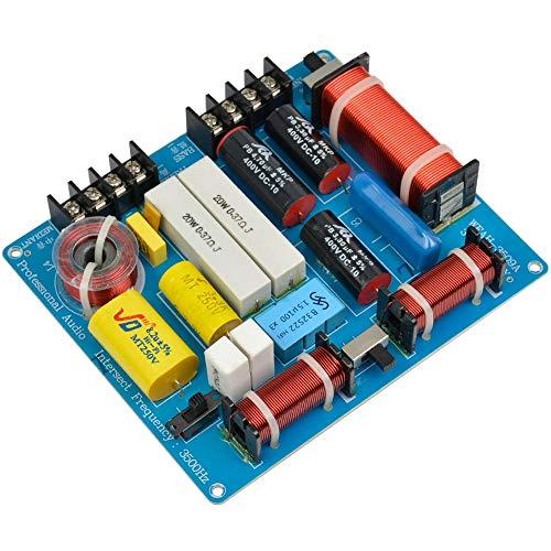 WOVELOT 1Pc 350W 3 Ways Crossover Scheda Audio Tweeter Mediant Divisore di Frequenza Bassa per 4-8Ohm DIY Ktv Stage Speaker Filter