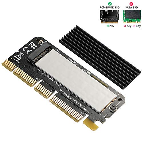 NVME PCIe x16 Adapter - BEYIMEI NVMe Adapter M.2 PCIe SSD to PCI-e x4/x8/x16 Converter Card with Heat Sink for M.2 (M Key) NVMe SSD 2230/2242/2260/2280 [Upgraded]