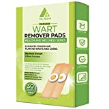 Wart Remover Pads, Remove Plantar and Common Warts | Advanced Natural Formula | Painlessly Wart Removal Treatment (30 Pads)