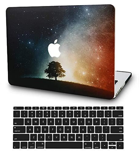 KECC MacBook Air 13 Pulgadas Funda Dura Case w/EU Cubierta Teclado MacBook Air 13.3 Ultra Delgado Plástico {A1466/A1369}(Árbol Solitario)