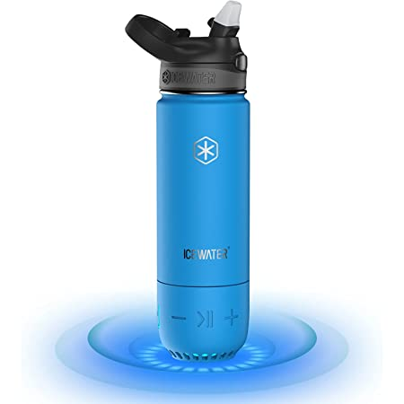 ICEWATER 3-in-1 Smart Water Bottle, Glows to Remind You to Stay Hydrated+Bluetooth Speaker, Stay Hydrated,Enjoy Music