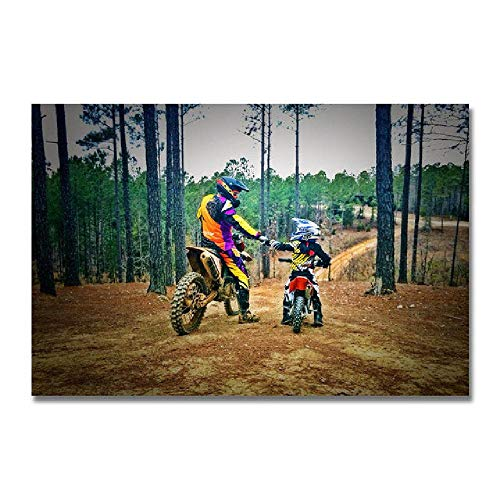 MAIYOUWENG Puzzle 500 Piezas De Madera Rompecabezas - Motocross Pattern (Puzzle Rompecabezas, Arte, Niños Y Adultos, 52X38 Cm)