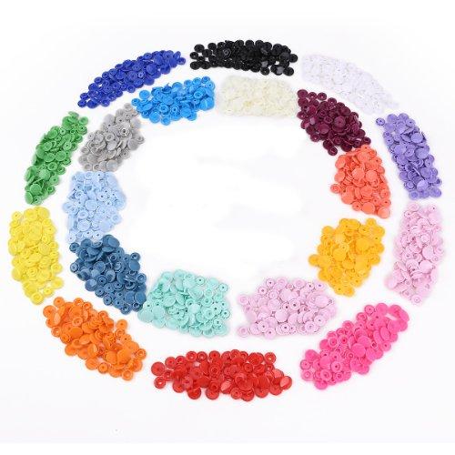 CLE DE TOUS - 300pcs T5 Snaps Botón Plastico Redondo para DIY Manualidades #718