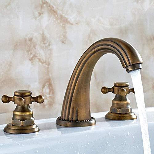 Grifo de baño lavabo baño antiguo bronce 3...