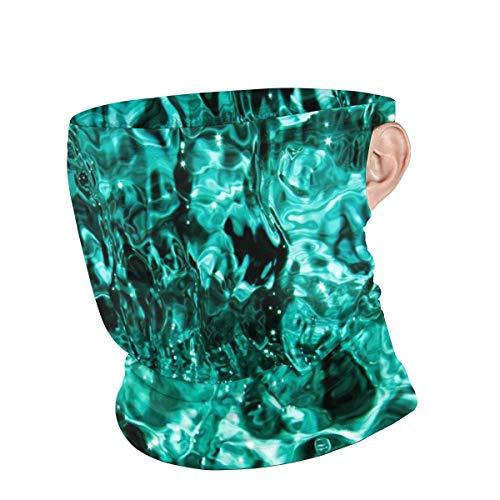 Turquoise Waves On Water Face Mask UV Sun Mask Dust Wind Neck Gaiter Magic Bandana for Women Men