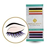 BEYELIAN ORCHID Colorful Varicolored Individual Eyelash Extensions as Highligher or Full Set Application C Curl 0.15mm 10mm