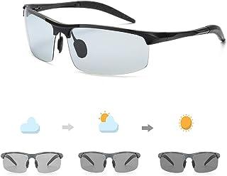78f0ca56cd OSVAW Gafas De Sol Polarizadas Fotocromáticas Para Hombre Sin Marco  Patillas de Al-Mg Para
