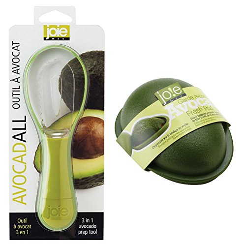 Joie Fresh Pod Avocado Storage Container and AvocadALL 3-in-1 Prep Tool Bundle