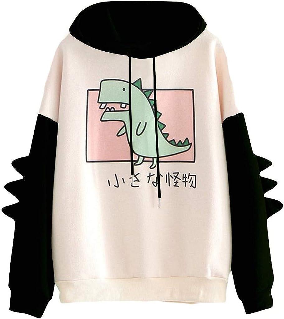 Eduavar Hoodies for Women Teen Girls Cute Heart Printed Long Sleeve Drawstring Pullover Sweatshirt Casual Hoodie Tops