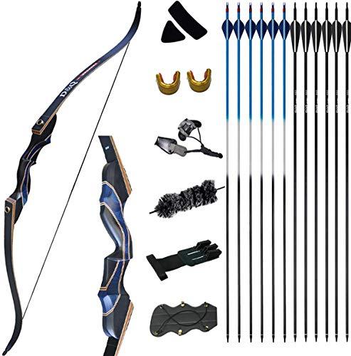 D&Q Archery Recurve Bow and Arrow Set for Adults Men Women...