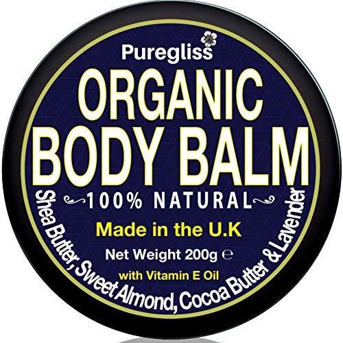 Puregliss Cocoa & Shea Butter Cream for Dry Skin, Itch, Belly Butter Pregnancy|200g| Natural, Organic Body Moisturiser for Women|Men|Children + Almond & Coconut Oil| Lavender| Vitamin E & More