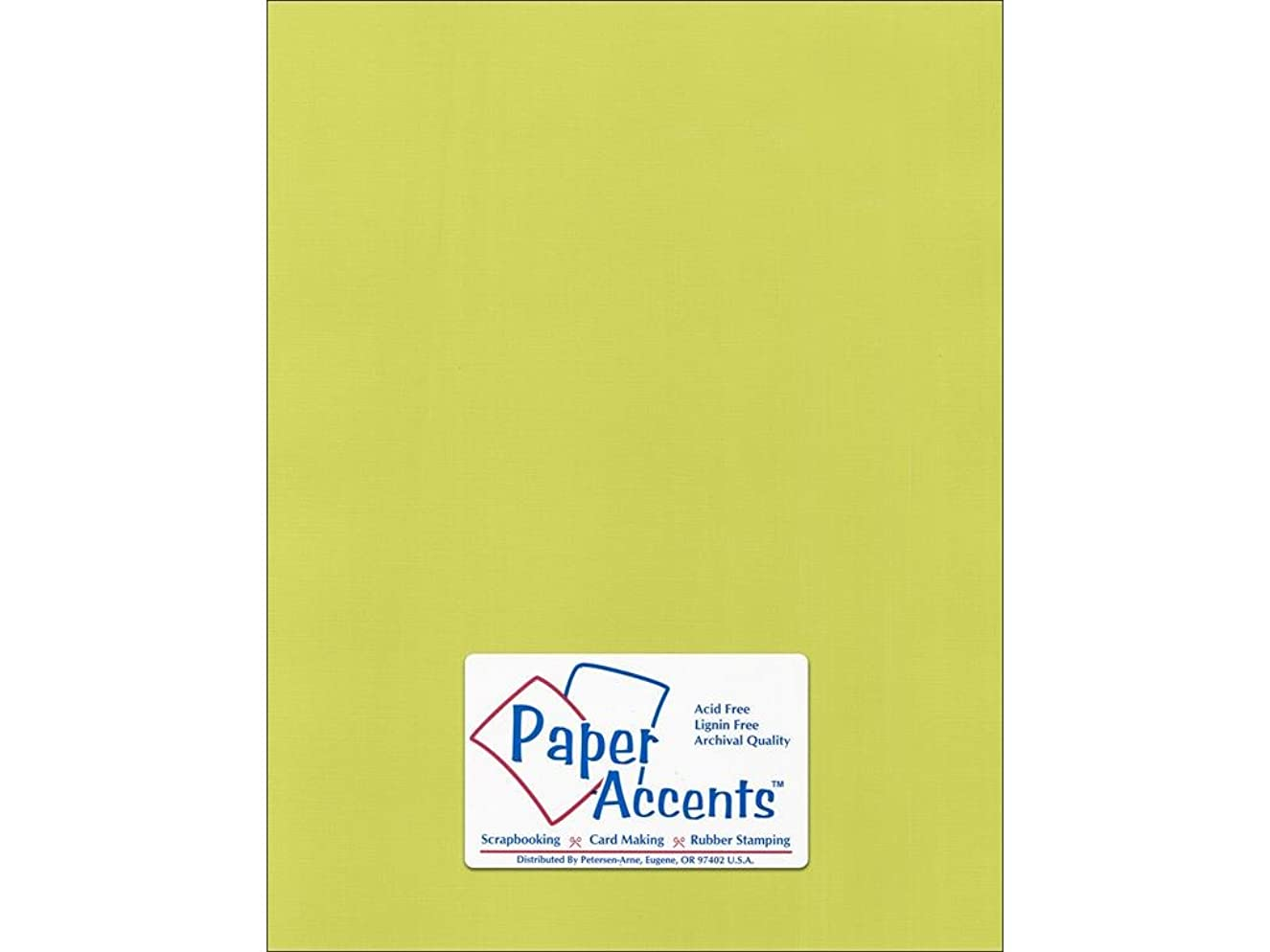 Accent Design Paper Accents Cdstk Canvas 8.5x11 80# Limelight
