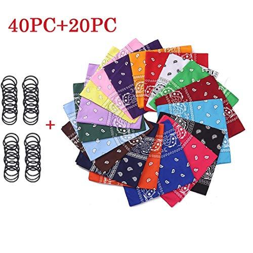 Salalook gezichtsbeschermingsmateriaal, doe-het-zelvers, stof, 100% katoen, patchwork-materiaal, zelfgemaakt, doe-het-zelf met een groot aantal motieven, bandana, paisley sjaal