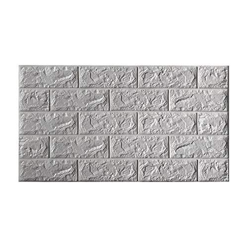 KUNYI 3D-Self-Adhesive Wandpaneele Faux-Schaum Bricks Tapete for TV Wand/Sofa Hintergrund Wand-Dekor (Color : Gray, Size : 20piece)