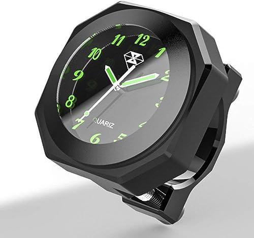 Moto Horloge étanche Cool Style Noctilucent Montre Cadran À Quartz Horloge Moto Lumineux Alliage Jauge Temps Horloge ...