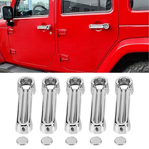Maniglia per Porta Cromata di Delaman Car + Copriruota Per Wrangler Liberty Dodge Nitro