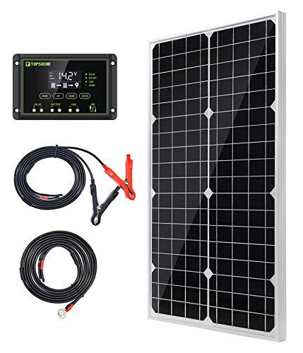 Topsolar Panel solar 30 W 12 V monocristalino sistema de rejilla para hogares RV barco 12 V carga de batería