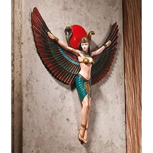Design Toscano Göttin Isis, Wandskulptur