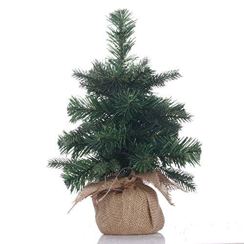 Topro Mini Christmas Tree 12 inch,Miniature Pine Tree,Pine Artificial Christmas Tree,Great for Tabletop or Desk,Base-12 inch(30cm)