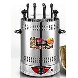 Dongbin Rôtissoire Verticale rôtissoire à Puce électrique Barbecue sans fumée Automatique Rotating Kebab Machine en Acier Inoxydable Kabob Countertop Grill