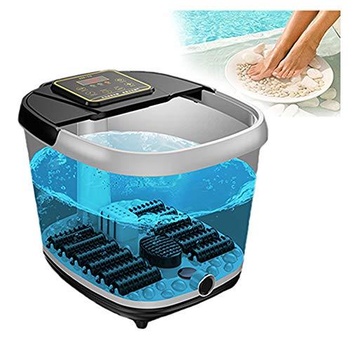 OLDHF Pediluvio idromassaggio,Riscaldamento a Raggi infrarossi, Rullo massaggiante, Massaggio con Bolle, separazione dell'Acqua ed elettricità, alleviare l'affaticamento del Piede,A