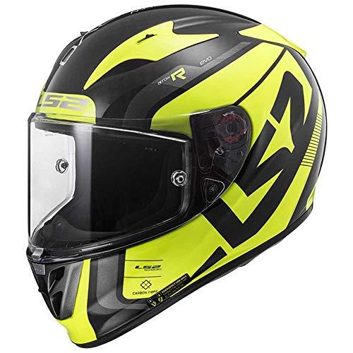 LS2 FF323 flecha C STING HI-VIS Motociclismo MOTO GP CRASH casco lleno CARA L