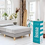 Leesa Original Bed-in-a-Box, Three Premium Foam Layers Mattress, Twin XL, Gray & White