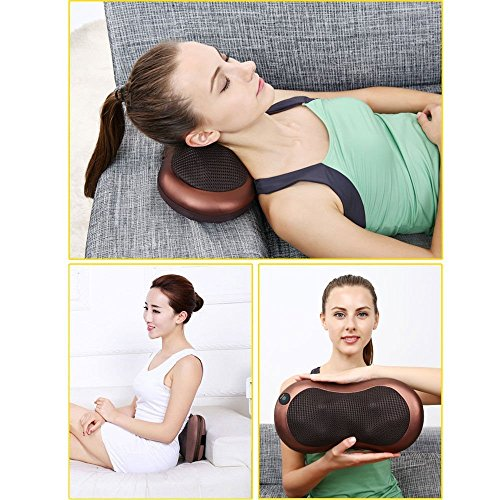 Mixen Infrared Heating Car Home Body Massage Pillow Neck Cervical Traction Massager Cushion Car Seat Cover Relaxation Massage HMP_01