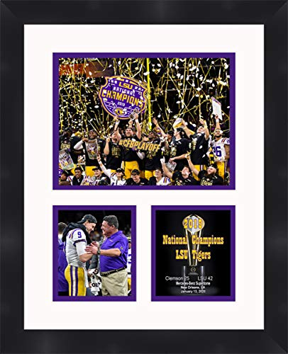 Louisiana State University LSU Tigers NCAA Framed Photograph 2007 BCS Champions Milestone Collage