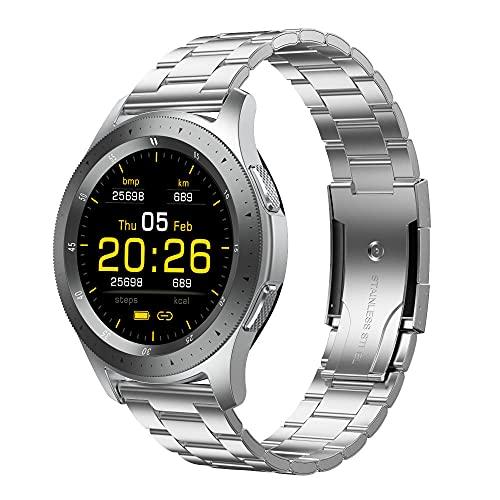 LKXL Smartwatches Caja de Metal de sintonización Completa de la Llamada de Bluetooth de la Pulsera Elegante del Reloj