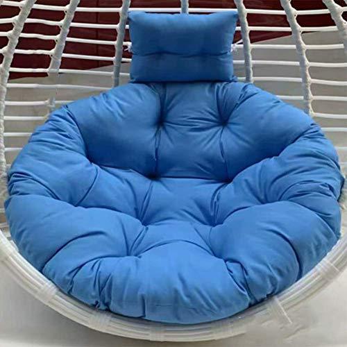 Cojín redondo para silla de huevo con forma de nido de huevo, para colgar en la silla, cojín sin soporte para silla de gran Papasan colgante para exterior