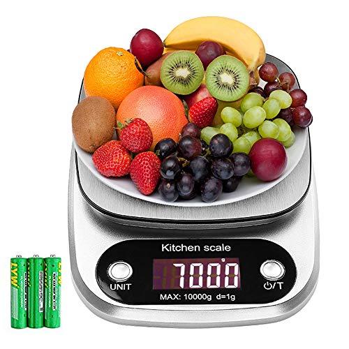 himaly Báscula de Cocina Digital de Acero Inoxidable Balanza de Alimentos Multifuncional de Alta Medicíon Precisa Pantalla...