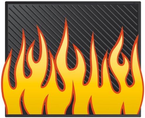 Plasticolor Yellow Orange Flames Detroit Mall Utility Daily bargain sale Mat- 14