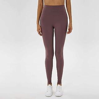 Yoga Pants Women High Waist Lift Hips Tight Elastic Fitness Pants Running Yoga Trousers,Gray Pink(4)