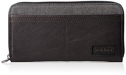 Diesel Herren D-SIDE 24 ZIP - wallet Geldbörse, Grey Denim/Black, Einheitsgröße