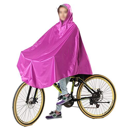 Regenjas poncho volwassen mannen en vrouwen mountainbike fiets regenbestendige ademende regenjas (Color : Rose red, Size : XXXL)