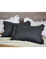 【サンマドラ】布団カバー 寝具カバーセット 枕カバー シーツカバー 肌に優しい フリル付き 純色 無地