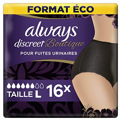 Always Discreet Boutique Inkontinenz-Slips, Größe L, 16 Stück