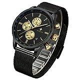 WWOOR Watch Men Wrist Watches Ultra Thin Stainless Steel Band Illuminate Quartz Watches for Business Causal