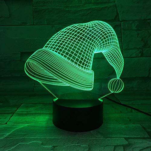 3D Symphony Lights Led Night Light Cap Touch 16 Lámpara De Mesa Usb Novedosa Que Cambia De Color El Mejor Regalo De Vacaciones De Cumpleaños Para Niños