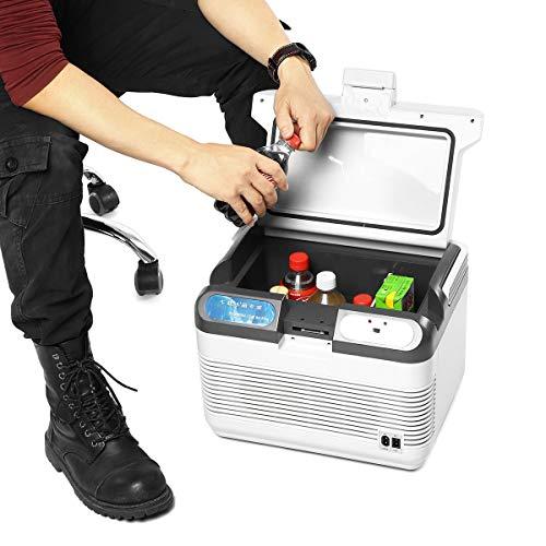 BJLWTQ 12L refrigerador Dual-Use Home Car Coche Refrigeradores Mini Congelador 12V 60W Portátil Ultra silencioso Caja de calefacción de refrigerador para Viajes